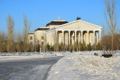 Nowy opery Theatre w Astana_ Kazachstan Obrazy Stock