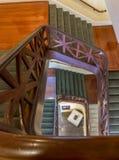 Nowy Orlean Ślimakowatego schody Ending Z Napoleon Śmiertelną maską Obrazy Royalty Free