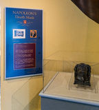 Nowy Orlean Cabildo Napoleon Śmiertelna maska Obraz Royalty Free