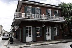 Nowy Orlean dzielnica francuska i swój ikonowi balkony obraz royalty free