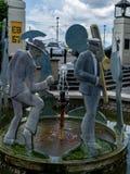 Nowy Orlean dzielnicy francuskiej korowodu Jazzowa fontanna Obrazy Royalty Free
