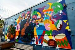 Nowy Orlean graffiti ściany Obrazy Stock