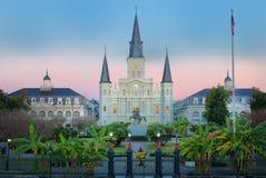 Nowy Orlean Jackson kwadrata wschód słońca Zdjęcie Royalty Free