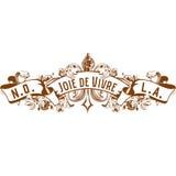 Nowy Orlean Joie De Vivre Radość Utrzymanie Fleur De Lis Projektujący ilustracja wektor