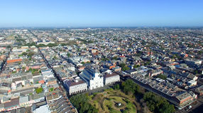 NOWY ORLEAN, los angeles - LUTY 2016: Powietrzny miasto widok Nowy Orlean a Fotografia Royalty Free