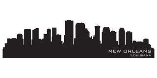 Nowy Orlean, Luizjana linia horyzontu Szczegółowa wektorowa sylwetka ilustracja wektor