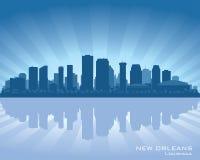 Nowy Orlean, Luizjana miasto linii horyzontu sylwetka royalty ilustracja
