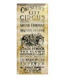 Nowy Orlean miasta cyrka Półksiężyc ulotka Fotografia Royalty Free
