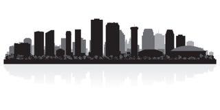 Nowy Orlean miasta linii horyzontu sylwetka royalty ilustracja