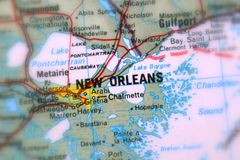 Nowy Orlean, miasto w U S zdjęcia royalty free