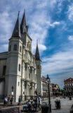 Nowy Orlean saint louis dzielnicy francuskiej ulicy Katedralni wykonawcy Zdjęcie Royalty Free
