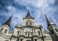 Nowy Orlean saint louis katedry dzielnica francuska Zdjęcia Stock