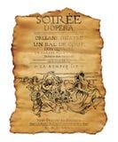 Nowy Orlean Soiree opery ulotka Zdjęcia Royalty Free