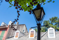 Nowy Orlean Streetlamp w dzielnicie francuskiej zdjęcia royalty free