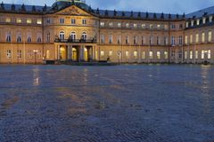 Nowy pałac Neues Schloss Stuttgart, Baden-Wurttemberg, Niemcy Obraz Royalty Free