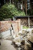 Nowy podmiejski dom obecnie w budowie Obrazy Royalty Free