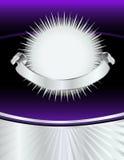 nowy poncza purpur srebra rok Zdjęcia Royalty Free
