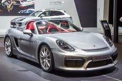 Nowy 2016 Porsche Boxster Spyder sportów samochód Fotografia Stock