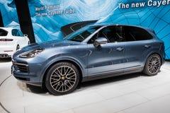 Nowy 2018 Porsche Cayenne S samochód Zdjęcia Royalty Free