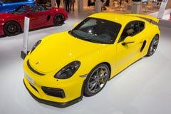 Nowy 2016 Porsche Cayman GT4 Obraz Stock