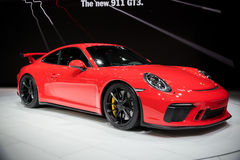 Nowy 2018 Porsche 911 GT3 sportscar Obraz Royalty Free