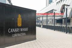 Nowy postęp budowa w Canary Wharf Obraz Stock