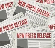 nowy prasowego uwolnienia ilustracyjny projekt fotografia royalty free