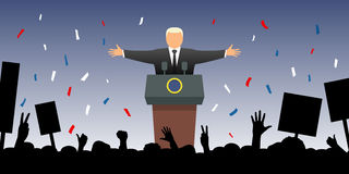 Nowy prezydent Fotografia Stock
