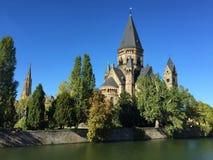 Nowy Protestancki Świątynny Metz Francja obraz royalty free