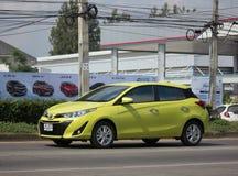 Nowy prywatnego samochodu Toyota Yaris Hatchback Eco samochód Zdjęcie Stock