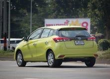 Nowy prywatnego samochodu Toyota Yaris Hatchback Eco samochód Fotografia Stock