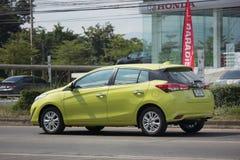 Nowy prywatnego samochodu Toyota Yaris Hatchback Eco samochód Zdjęcia Stock