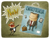 Nowy przedsiębiorca ilustracja wektor