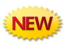 nowy przycisk Zdjęcia Royalty Free