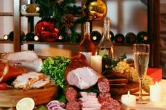 nowy przyjęcie stołu rok Zdjęcie Stock