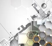 Nowy przyszłościowy technologii pojęcia abstrakta tło Zdjęcie Stock