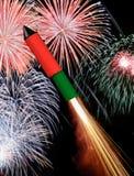 nowy rakietowy rok Obraz Royalty Free
