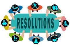 nowy rezolucji jest rok Obrazy Stock