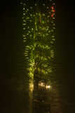 Nowy Rok świętowań fajerwerki przy Burj Khalifa w Dubaj Zdjęcie Stock