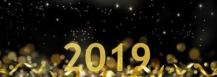 2019 nowy rok świętowanie Obrazy Royalty Free