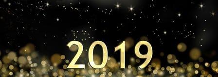 2019 nowy rok świętowanie Zdjęcie Stock