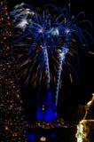 Nowy Rok Świętowanie przy Disneyworld obraz royalty free