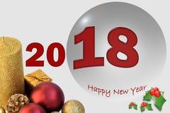 2018 nowy rok Zdjęcie Royalty Free