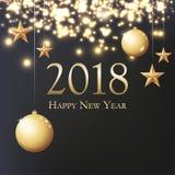 Nowy rok 2018 ilustracji