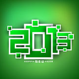 nowy rok 2013 Szczęśliwych kartka z pozdrowieniami. Obraz Stock
