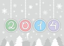 Nowy rok 2014 Zdjęcie Royalty Free