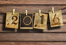 Nowy rok 2016 Zdjęcie Royalty Free