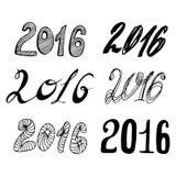 2016 - Nowy Rok ilustracja wektor