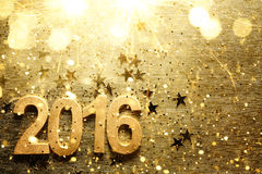 Nowy rok 2016 Zdjęcia Royalty Free