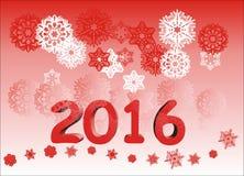 Nowy rok 2016 Obrazy Royalty Free